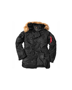 Alpha Industries N3B Parkas Sort/Brun