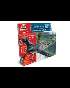 Italeri Byggesett 1:72 Messerschmitt 109 startsett m/lim og maling