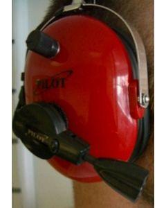 Pilot Lite+ Headset lys rød/hvit LED