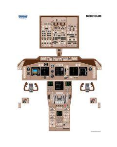 Plakat 747-400 Cockpit