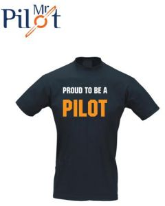 T-shirt Proud to be a pilot