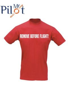 T-shirt Remove before flight
