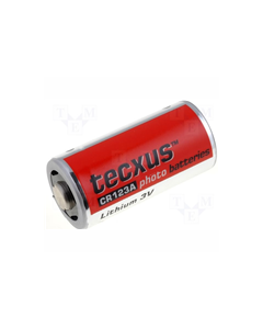 Tecxus battery CR123A 3 volt