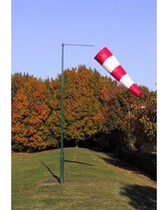Vindpølse 6 fot rød og hvit